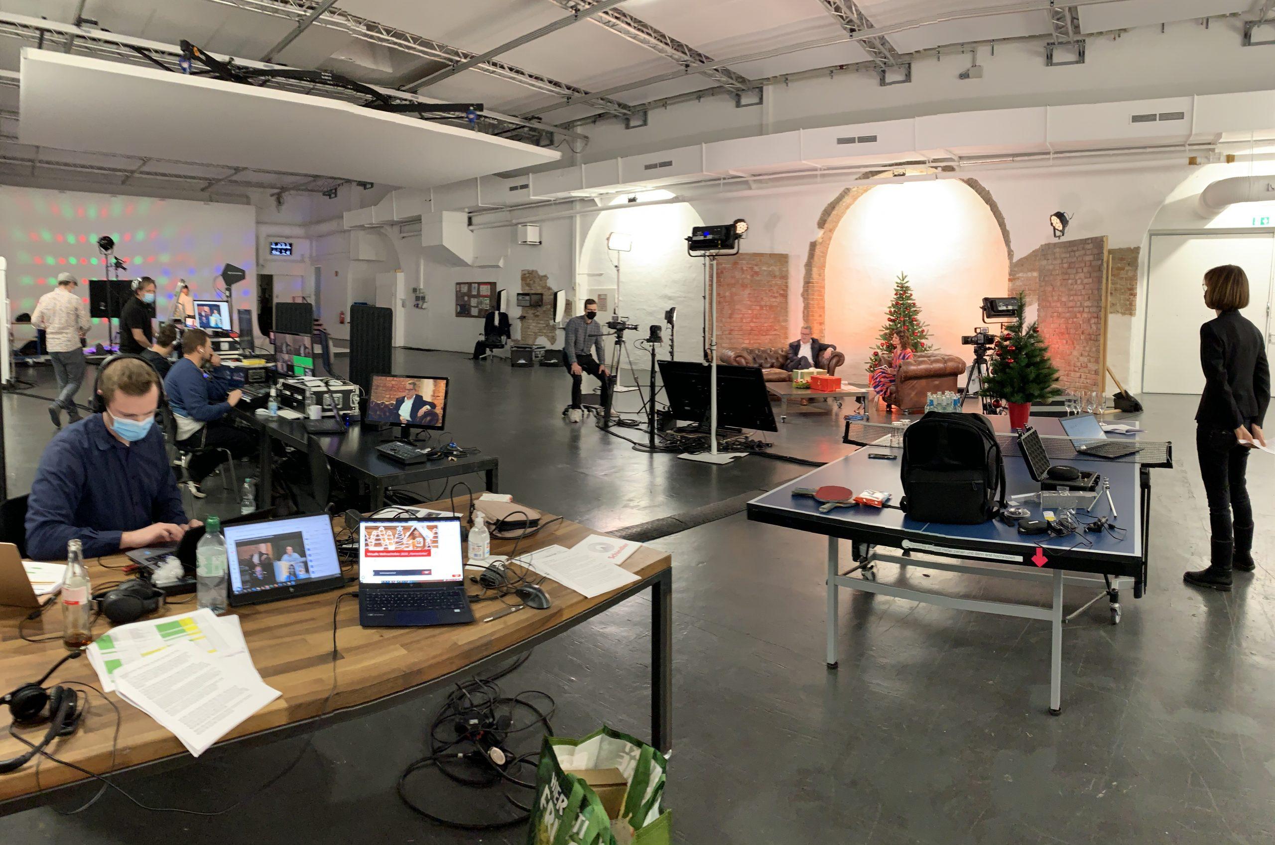 Einblick ins Studio während eines unserer virtuellen Events