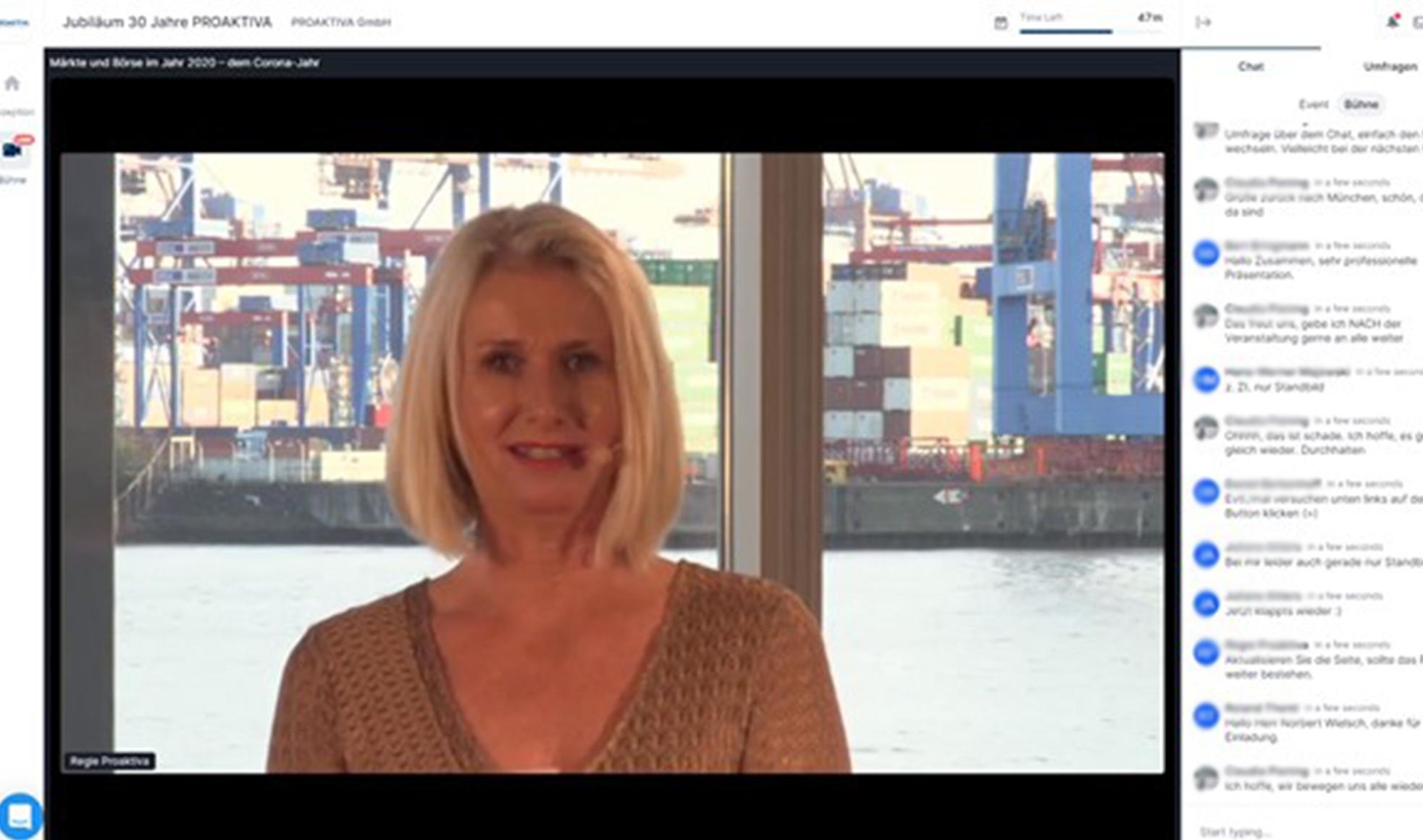 Nadja-Kahn live während eines virtuellen Events
